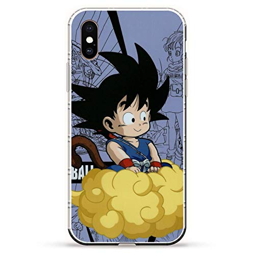 Fashionshot Transparent Slim Liquid Flexible Fundas Soft Case Back Cover for Apple iPhone X/XS-Super Goku-DBZ Blue 7
