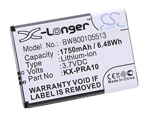 vhbw Li-Ion Akku 1750mAh (3.7V) für Handy Telefon Festnetz Panasonic KX-PRX110, KX-PRX110GW, KX-PRX120, KX-PRX120GW, KX-PRX150, UVM. wie KX-PRA10.