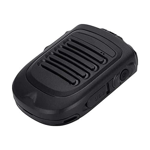 Micrófono de mano inalámbrico, BM001 14H Tiempo de conversación Bluetooth inalámbrico Bluetooth Micrófono Micrófono ergonómico Bluetooth Micrófono con auriculares de 3.5 mm Admite POC Intercom y auric