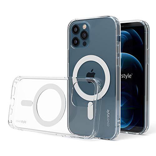 """CoverStyle - UltraFlex PRO - Custodia Compatibile con Ricarica MagSafe in TPU+PC per iPhone 12 PRO Max (6.7"""") - Trasparente"""
