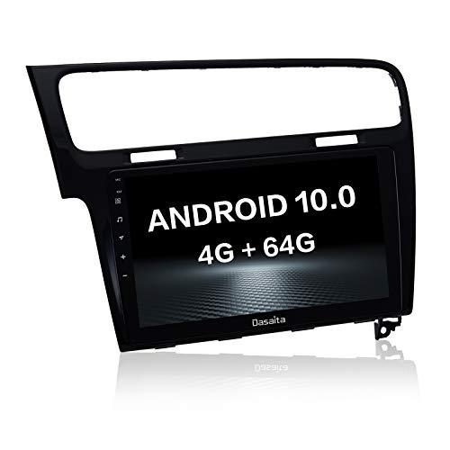dasaita Bluetooth Radio für VW Golf 7 2012 2013 2014 bis 2019 Android 10.0 Stereo mit integriertem Carplay Android Auto RDS Spiegel Link WiFi Hotspot