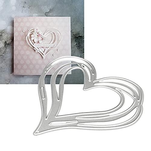 WuLi77 Herz Metall Stanzschablone Die Stanzen Zum Basteln Von Karten, Prägeschablone Für Scrapbooking, DIY Album, Papier, Karten, Kunst, Dekoration