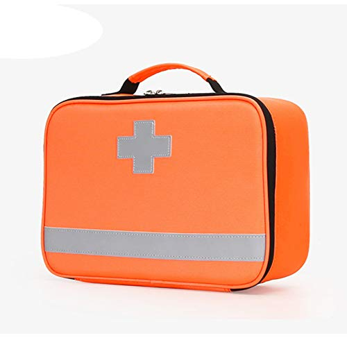 WANGXNCase Waterproof First Aid Kit Bag with Labelled Compartments, Portable Handle Empty Emergency First Aid Bag for Hiking, Backpacking, Camping, Travel, Car and Cycling