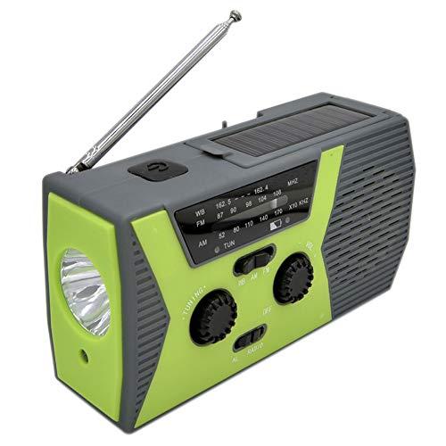 Baifeng Emergency Solar Hand Crank Radio with AM/FM LED Reading Lamp SOS Alarm New