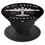 B-17 Flying Fortress | Vintage WWII Aircraft | B-17 Bomber PopSockets Grip and Stand for Phones and Tablets