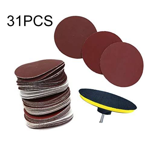 MOLINB Schuurpapier nieuwe 30 stks 3 inch Schuurpapier Polijsten Buffing Buffer Pad Dual Action Hook & amp;Loop Sanding Kit 10-120 korrel schuurpapier
