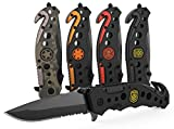 3-in-1 Police Tactical Knife for Law Enforcement and First Responders with Glass Breaker, Seatbelt...