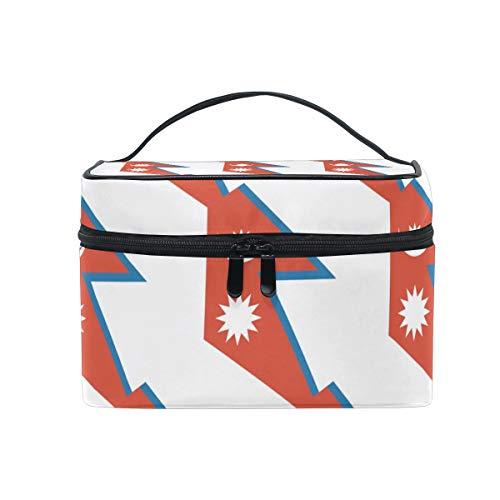 Nepal - Bolsa organizadora de cosméticos de viaje, diseño de bandera