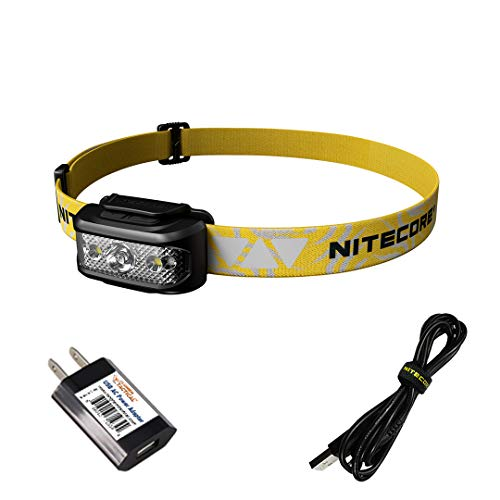 NITECORE NU17 Ultra Lightweight Rechargeable Running Headlamp with Red Light and Reading Light with LumenTac Adapter
