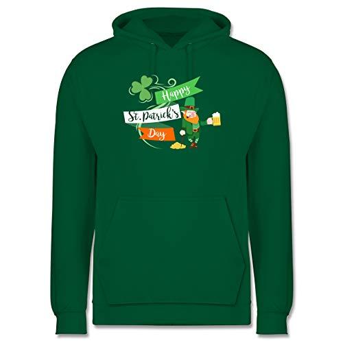 St. Patricks Day - Happy St. Patricks Day Kobold - XXL - Grün - st Patricks Day Herren - JH001 - Herren Hoodie und Kapuzenpullover für Männer