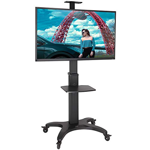 Soporte con Ruedas Ajustable Exclusivo para TV LCD/LED/Plasma de 32 a 65 Pulgadas, VESA MAX 600 x 400 mm Capacidad máxima 36 kg, Negro