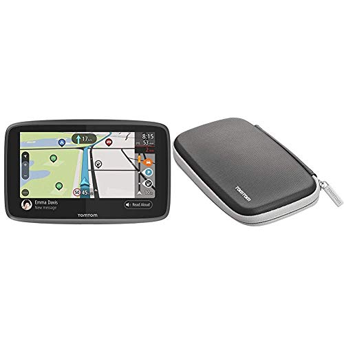 TomTom Campervan and Caravan Sat Nav GO Camper with Campervan and Caravan POIs, Updates via Wi-Fi, Traffic and Speedcam Warnings via SIM Card, World Maps + Protective Classic Carry Case