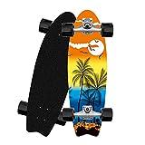 Skateboards Niños Monopatín Cruiser Completo für Principiantes Adolescentes Niño Niña Surfskate Carver Pumping Tabla de Skate, CX4 Truck, Rodamientos de Bolas ABEC-9, Rodillos de PU 78A, 81×25CM