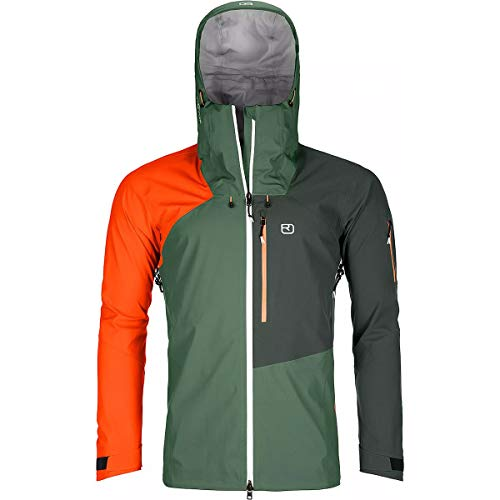 ORTOVOX Mens 3L Ortler Shell Jacket, Green Forest, XL