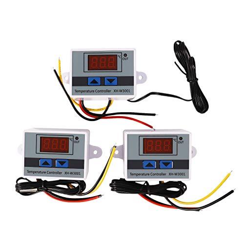 VORA Controlador de Temperatura LED Digital de 24 V XH-W3001 para el Interruptor Del Termostato NTC Del Interruptor de CalefaccióN y Enfriamiento de la Incubadora