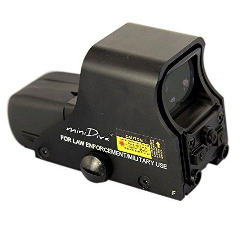 Minidiva® 551 Holographic Sight Red Green Point Visier / Dot Anblick Bereich, 10 Stufen Helligkeit, passt in jede 20mm Schiene