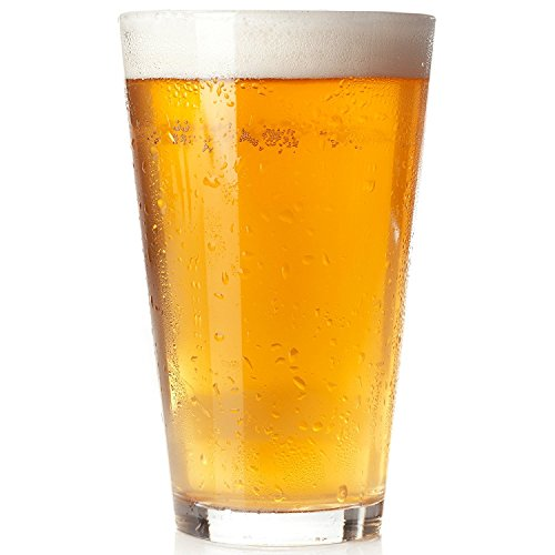 Royal Beer Glass Set - 12 Pack - Holds a full Bottle of Beer up to 16-ounces - Shatter-Resistant, Great for Pubs, Bars, Restaurants (12-Pack)