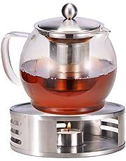 Bambelaa! Theepot met stoofje, zeefinzet, glazen theepot, theepot, koffiepot, theezeef, kan, theewarmer, ca. 1,2 liter