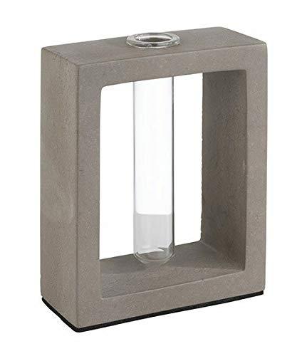 APS vaas met glazen inzetstuk -element - 10 x 4,5 cm, H: 12,5 cm