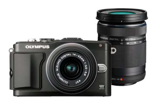 Olympus E-PL5 Kit + 14-42mm II R + 40-150mm schwarz