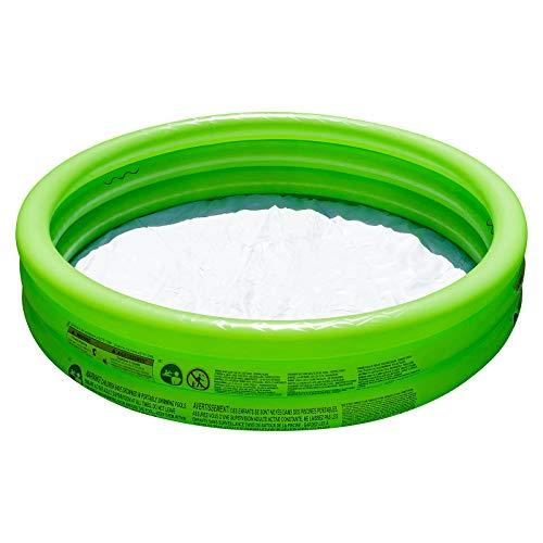 Shopping Hero Planschbecken 122x25cm von Bestway, 3 aufblasbare Ringe, für Kinder ab 2 Jahren , inkl. 100 selbstschließenden Wasserbomben, weicher Boden, für Garten, Balkon, Terrasse (Grün)