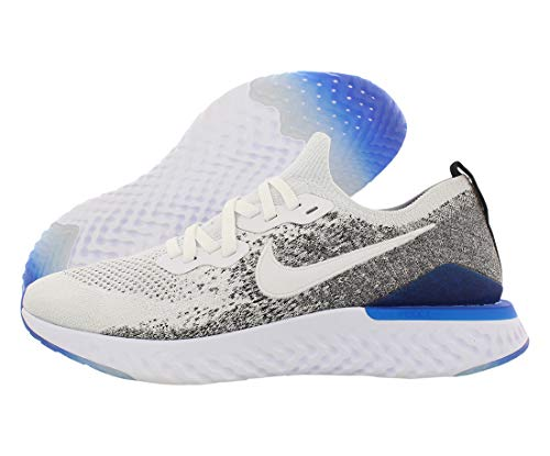 Nike Men's Epic React Flyknit 2 Running Shoes, White (White/White/Black/Racer Blue 102), 7 UK