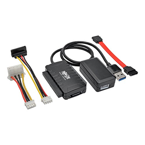 Tripp Lite USB 3.0 SuperSpeed to SATA/IDE Adapter w/Built-in USB Cable 2.5in / 3.5in / 5.25in Hard Drives (U338-06N)