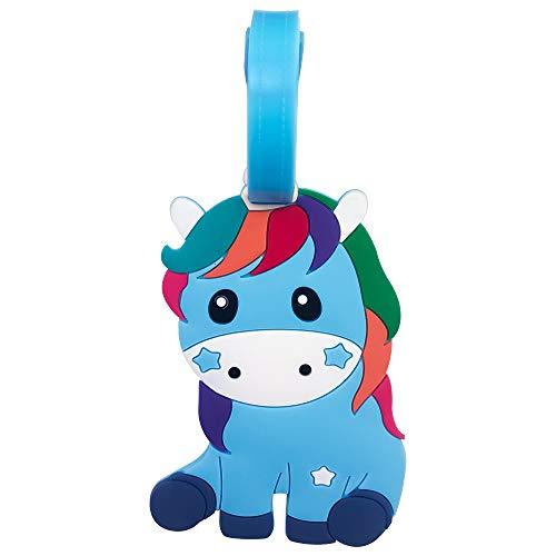 Jinchun - Etiqueta para equipaje de unicornio (1 unidad), diseño de unicornio