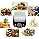 Balance de Cuisine Electronique Balance de Precision 10kg/1g Hanmir Balance Numérique Cuisine de Haute Précision Acier Inoxydable Écran LCD Rétroéclairé Noir #1