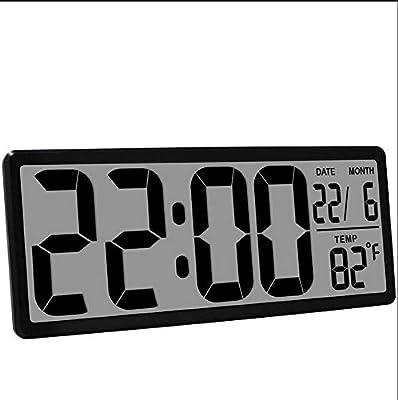 WDDqzf Reloj Despertador Digital Grande Jumbo Relojes de Mesa Digitales de Pared Pantalla LCD Alarma Posponer