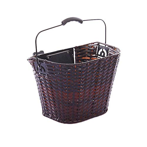 For Sale! Ybriefbag-Cycling Accessories Retro Wicker Bike Basket Quick Release Front Handlebar Bicyc...