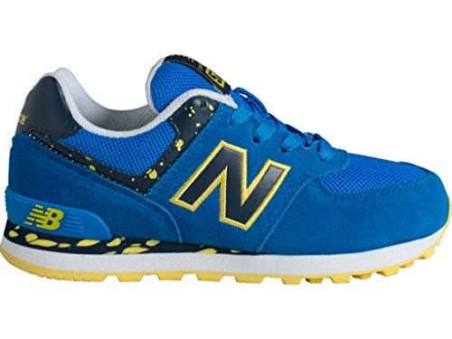 New Balance  Kl574,  Damen Hausschuh , blau - Blau/Gelb - Größe: EU 40