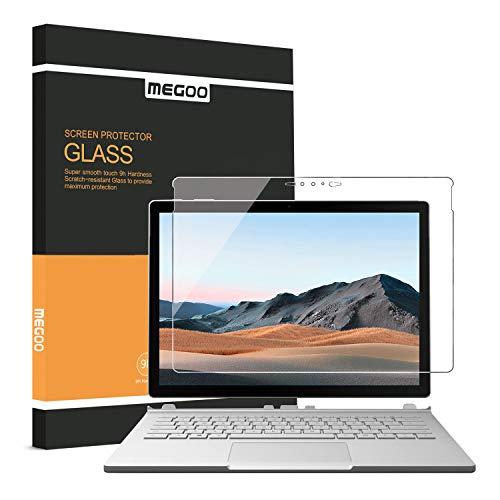 MEGOO Surface Book 3 Bildschirmschutzfolie, präziser Ausschnitt, gehärtetes Glas, einfache Installation, blasenfrei, sanftes Berühren, kratzfeste Bildschirmschutzfolie - 13,5 Zoll