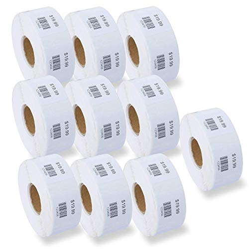 "BETCKEY - Compatible DYMO 30332 (1"" x 1"") Multipurpose Square Labels - Compatible with Rollo, DYMO Labelwriter 450, 4XL & Zebra Desktop Printers[10 Rolls/7500 Labels]"