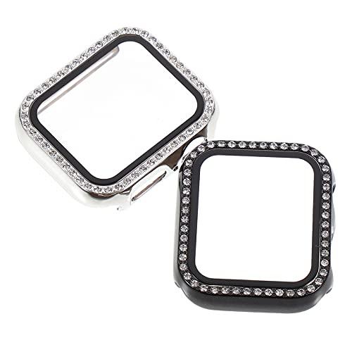 ifundom 2 Stks Smartwatch Protector Glanzend Diamant Horloge Cover Smartwatch Case