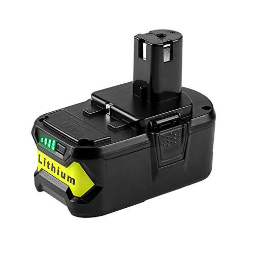 Tragbarer 18-V-Akku 4000-mAh-Lithium-Ionen-Ersatzakku Elektrowerkzeug-Akku für Ryobi ONE + -Black (BCVBFGCXVB)