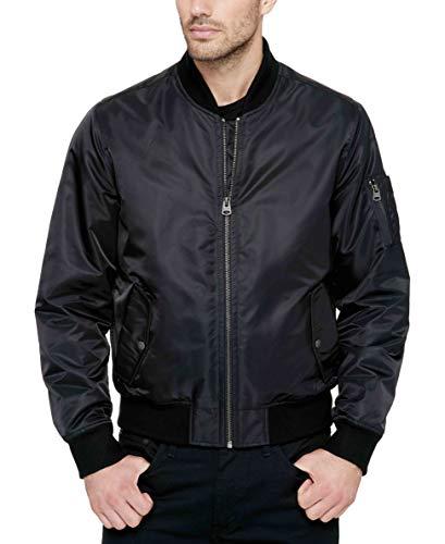 Levi's Men's Ma-1 Flight Jacket, Black, M