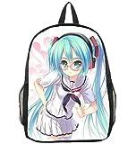 Zjcpow Bolsa de Vocaloid Hatsune Miku Animado Bookbag Mochila Racksack Hombro del Bolso de Escuela xuwuhz