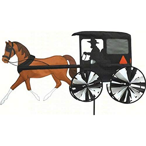 Windworks Windspiel Accent Horse and Buggy Nylongewebe 25x96x45cm