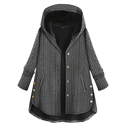 New Pumsun Women's Warm Coat Casual Button Cotton Blend Long Sleeve Hooded Coat Jacket with Pockets ...