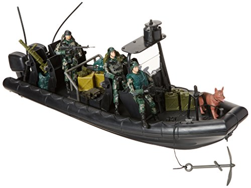 "Click N' Play Military Special Operations Combat Dinghy Boat 26 Piece Play Set with Accessories. -  Click N"" Play, CNP1337"