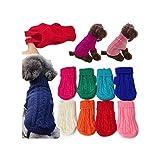 PageHar Chaqueta 1pcs Perro suéter de Punto Chaquetas para Mascotas Chaleco Ropa del Gato Ropa de Abrigo Pequeño Suaves Calientes del Traje de Ropa, C, L
