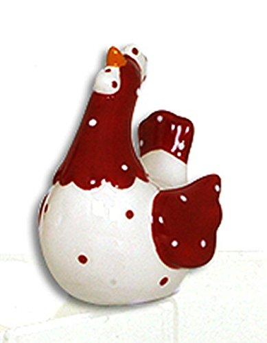 Collection Les Petites Cocottes Poule Deco Petra CERAMIQUE 2 Corps Blanc 8.6X6.5cm 12021