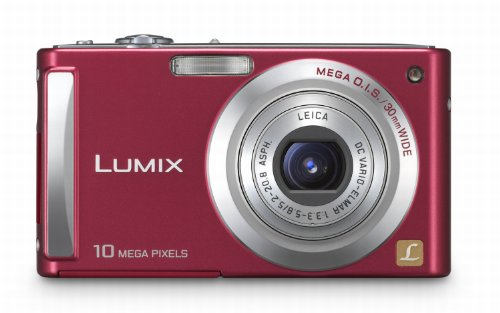 Panasonic DMC-FS5EG-R Digitalkamera (10,1 Megapixel, 4-fach opt. Zoom, 6,4 cm (2,5 Zoll) Display, Bildstabilisator) rubinrot