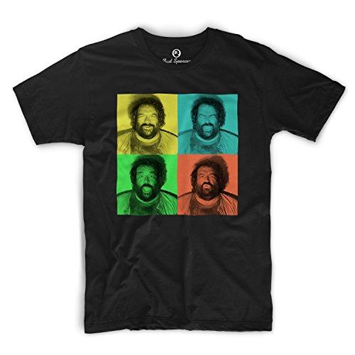 Bud Spencer - B. Joe Fotoautomat - T-Shirt (XL) , Farbe - Schwarz