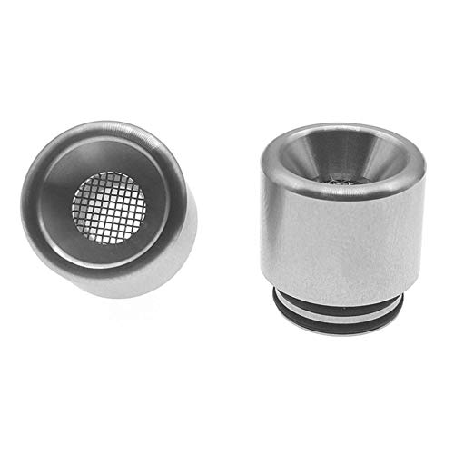 Satelliter 810 Drip Tip, 510 Drip Tip, Universally Standard Stainless Steel Drip Tip Connector for Ice Maker Mod(Silver)