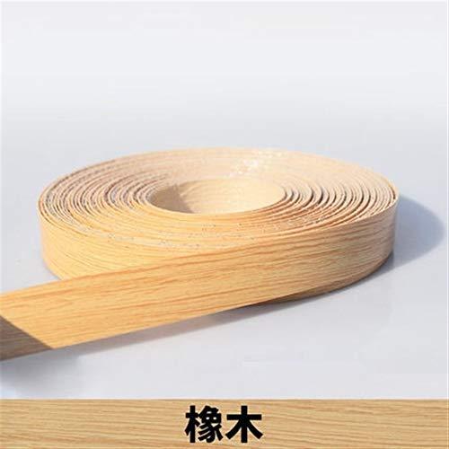 NO LOGO SY-MUPITIEZHI, 1pc 10M Self Adhesive Möbel Holzfurnier Dekorative Kantenanleimmaschine PVC for Möbel Cabinet Office Tabelle Holzoberfläche Edging (Color : B)