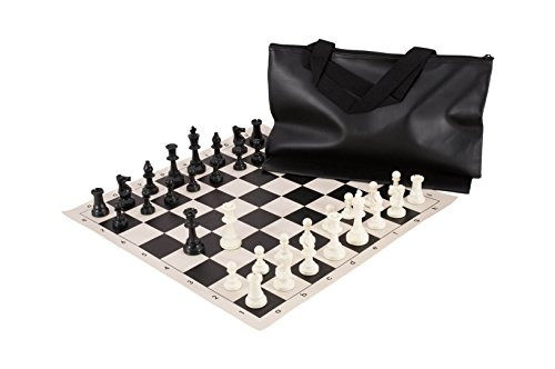 The House of Staunton, Inc. Superior Chess Set Combination - Triple Weighted - by US Chess Federation (Black)