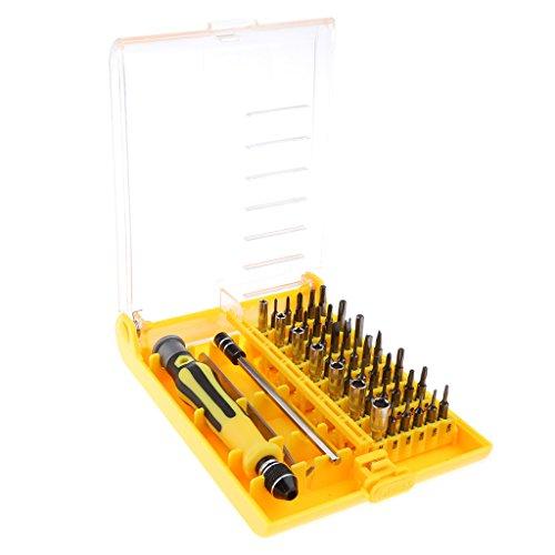 MagiDeal Juego de Destornilladores Hexagonales de Precisión 45in1 para Reparación de Portátiles, Teléfonos Móviles Y Relojes