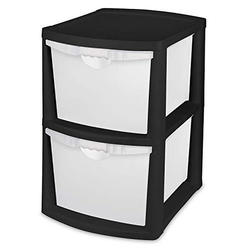 Sterilite 2-Drawer Bin Storage - Black